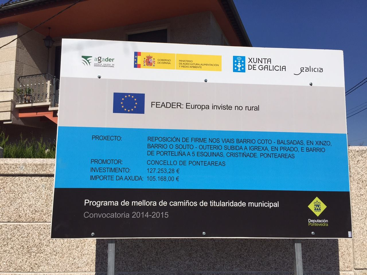 Remataron As Obras De Reposición De Firmes De Viais Parroquiais, Incluídas No Plan De Mellora De Camiños Rurais 2014-2015