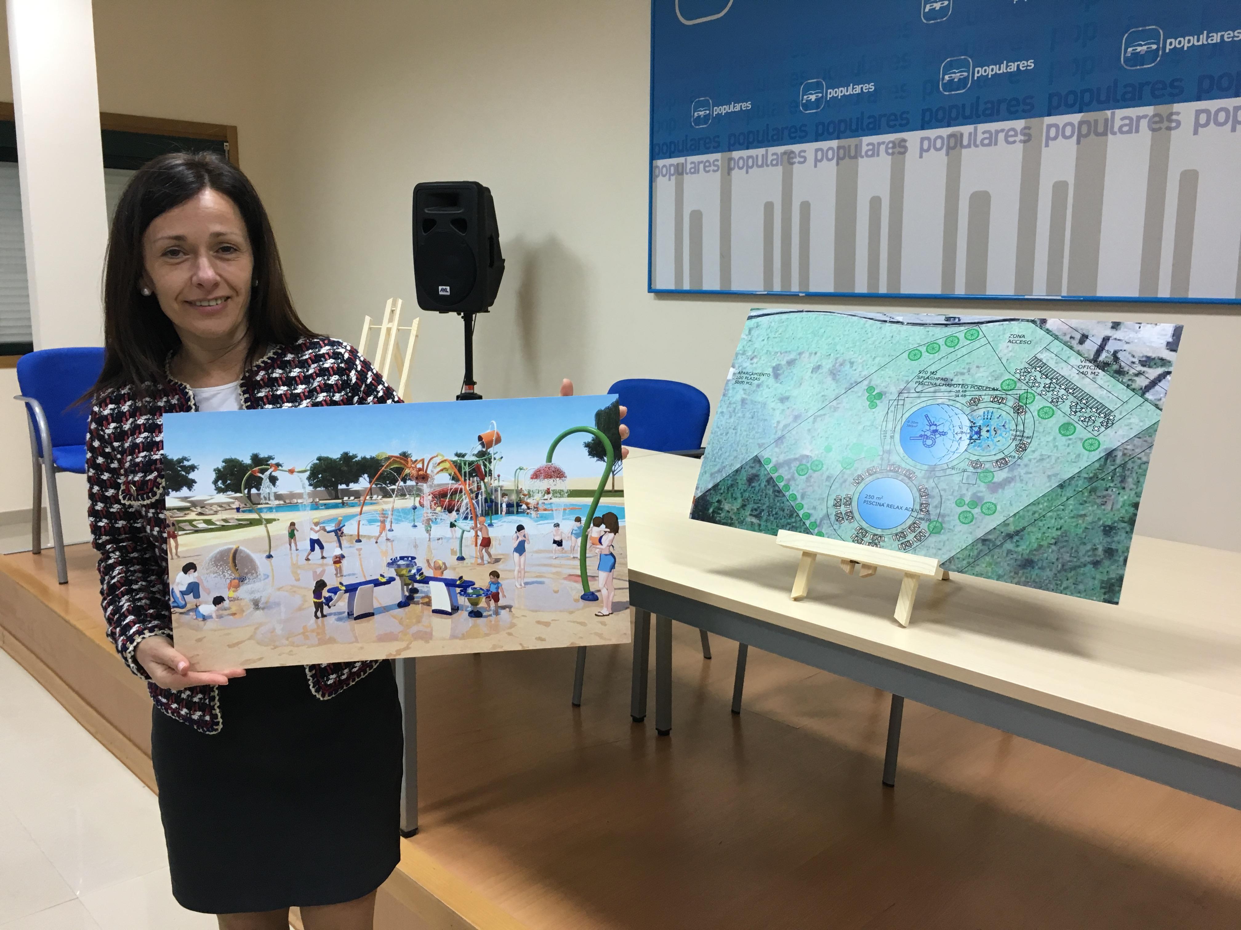 Belén Villar Anuncia La Construcción De Una Zona Lúdica Con Piscinas Pionera En La Provincia